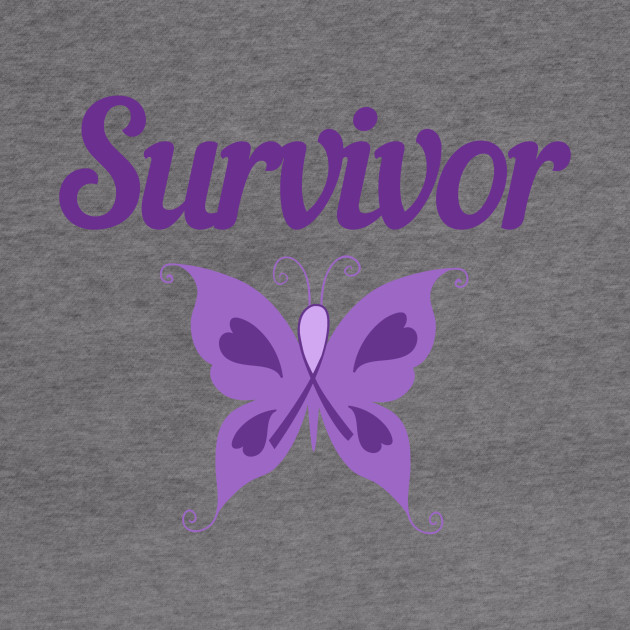 Purple Ribbon Awareness Gift Butterfly Thyroid Cancer Survivor Gift Eating Disorders Domestic Violence Eating