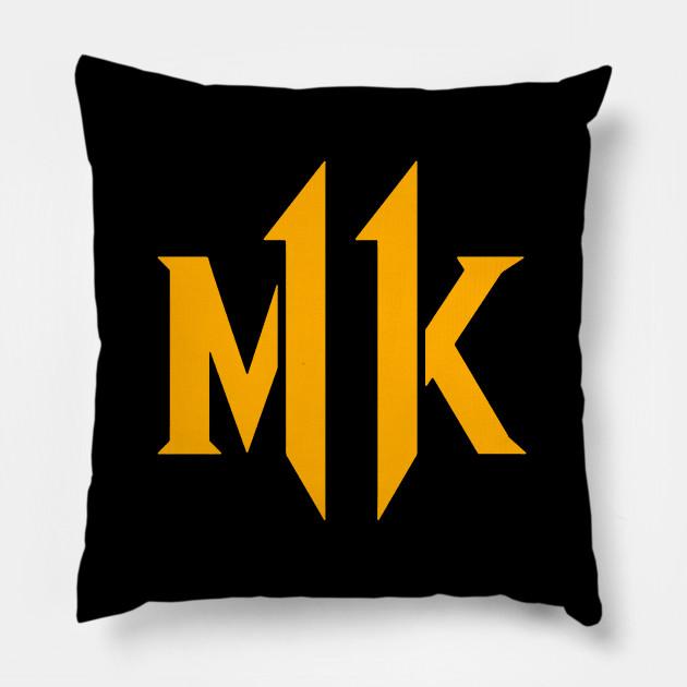 Mortal Kombat 11 New Logo 2019 Mortal Kombat 11 Pillow Teepublic