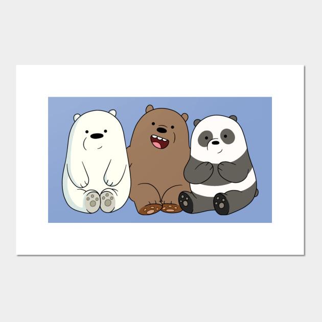 We Bare Bears Little Bears Cute Little Bears We Bare Bears Little Bears Panda Grizz Posters And Art Prints Teepublic