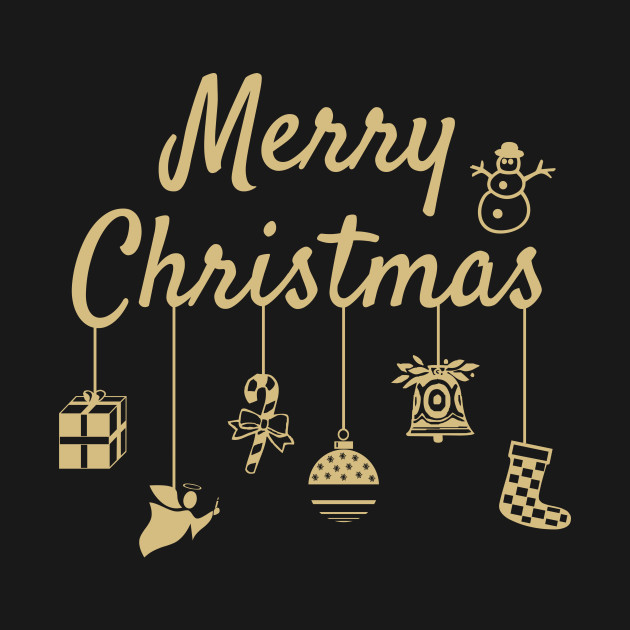 Merry Christmas Image.Merry Christmas Ornaments Gold
