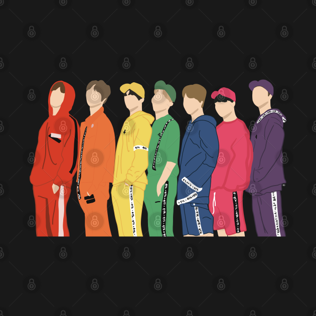 BTS muster rainbow photoshoshoot