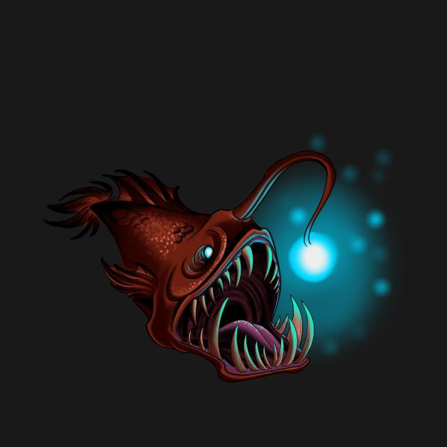 angler fish fish t shirt teepublic