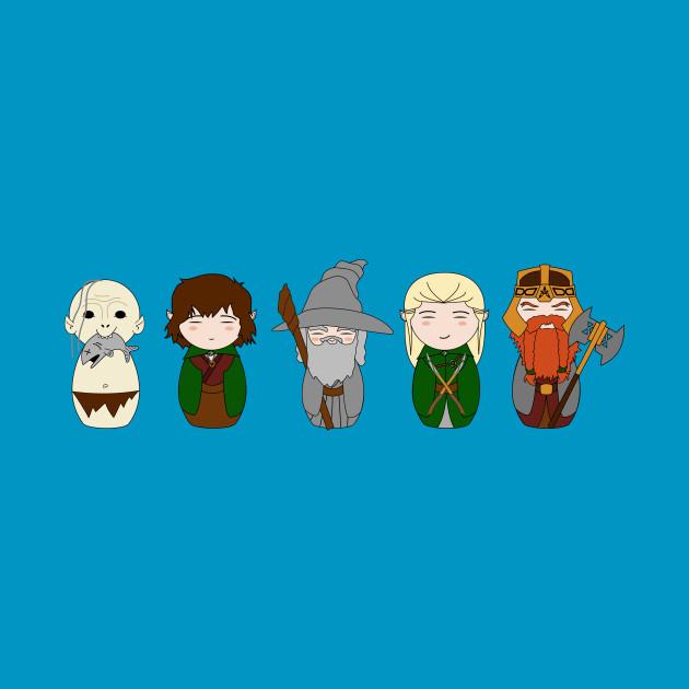 Lord of the Rings & Hobbit Kokeshi