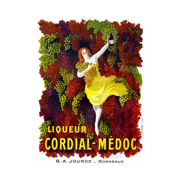 Vintage Travel Poster France Liqueur Cordial Medoc