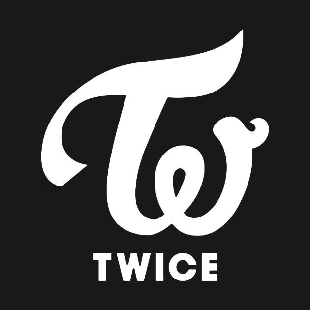 twice logo 1 white twice t shirt teepublic