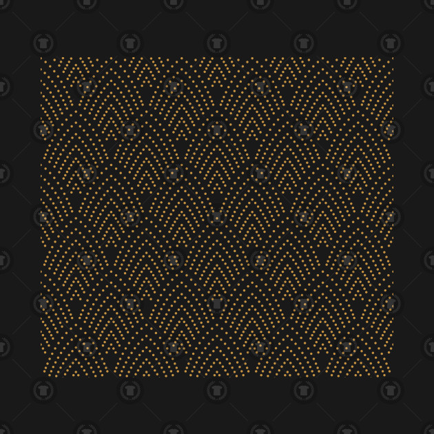Retro Wavy Pattern Art Deco