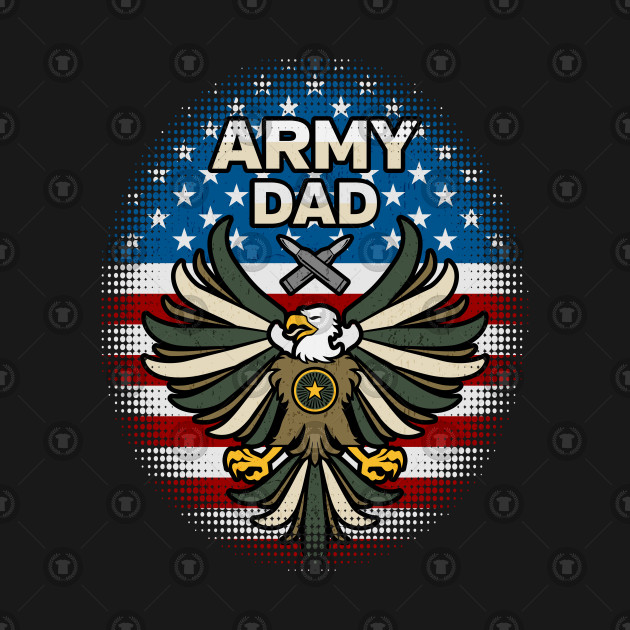 Army Dad Military Patriotic Eagle