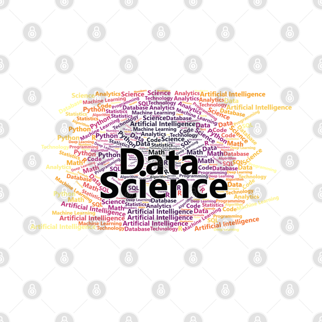 Data Science Word Cloud | Inferno Palette