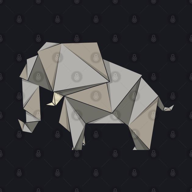 Elephant, origami style