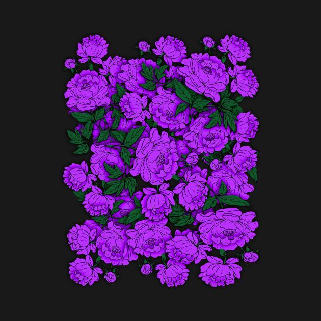 Purple peonies flowers crewneck sweatshirt teepublic 1723808 1 mightylinksfo