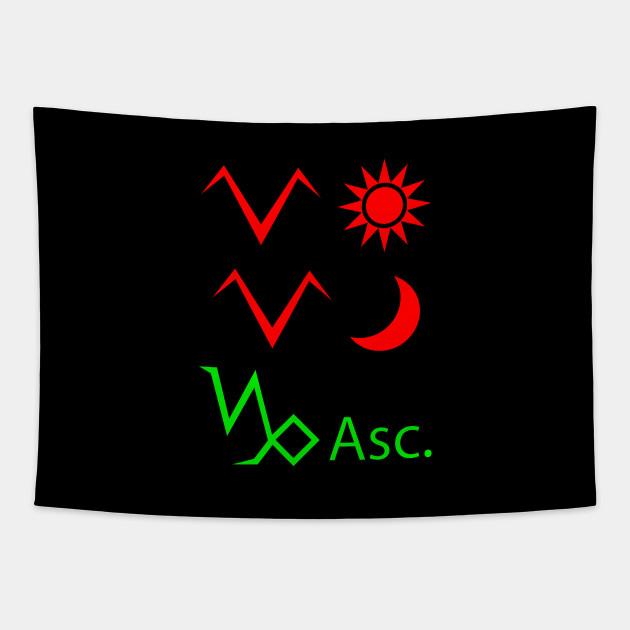 Aries Sun Aries Moon Capricorn Ascendant Zodiac Signs Tapestry Teepublic