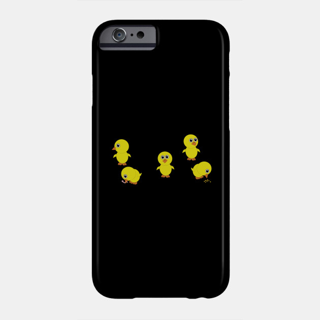 five yellow chicks, chicken
