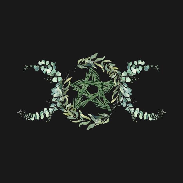 triple goddess - pentacle or pentagram of nature