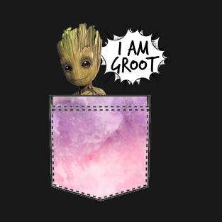 I AM GROOT POCKET t-shirts