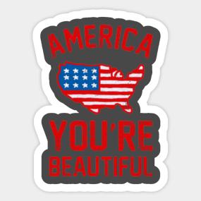 AMERICA, YOU'RE BEAUTIFUL Sticker
