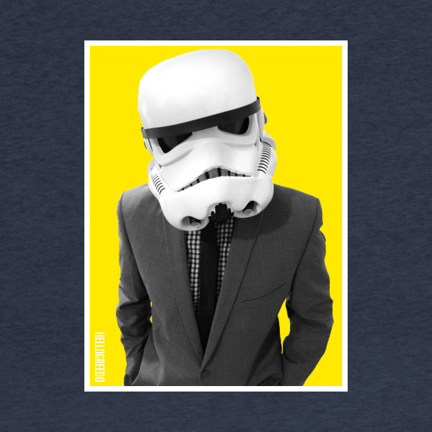 Stormtrooper in a Suit - HelloGreedo Shirt