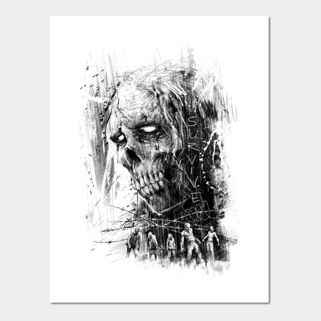 Zombie - Zombie - Wall Art | TeePublic
