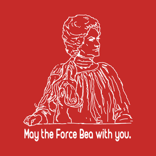 May the Force Bea with You - White