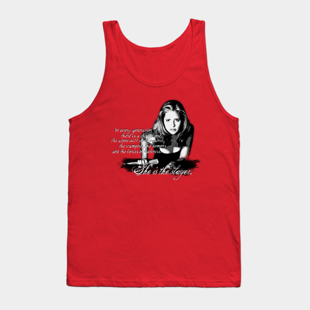 3bf1c7dc15ea74 Buffy The Vampire Slayer BW - Vampire Slayer - Tank Top