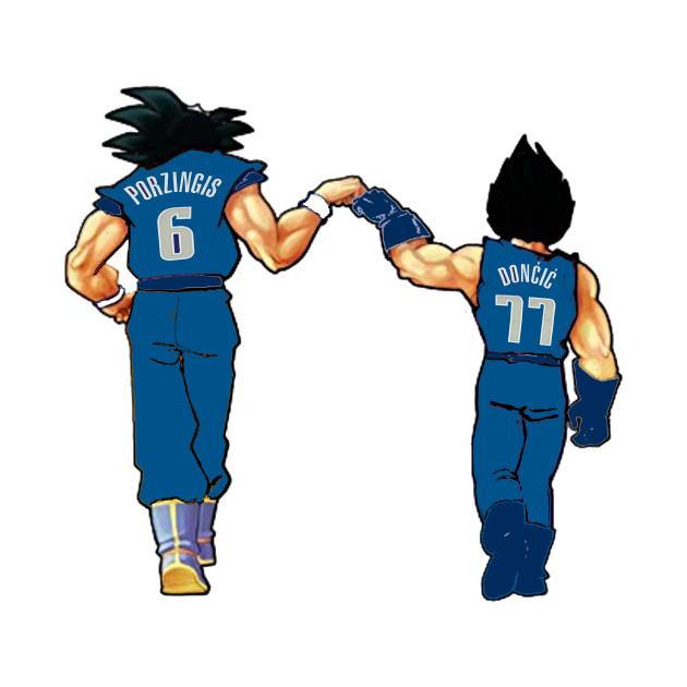 Luka Doncic & Kristaps Porzingis x Goku & Vegeta