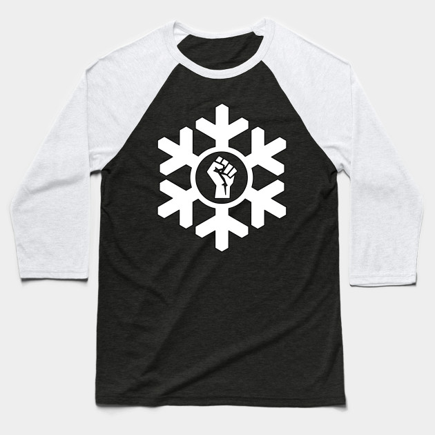 Power Fist Proud Snowflake Christmas Liberal Design Snowflake