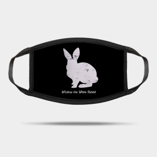 White Rabbit Inspired Face Mask