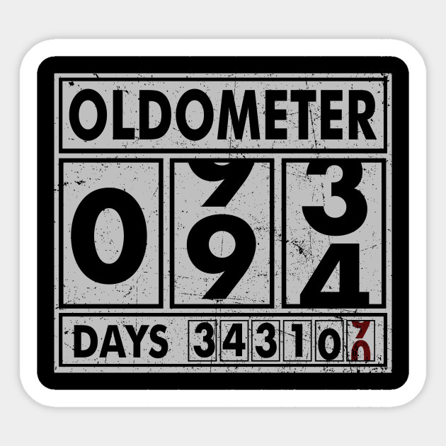 OLDOMETER 94 Years Old Made In 1924 94th Birthday Sticker