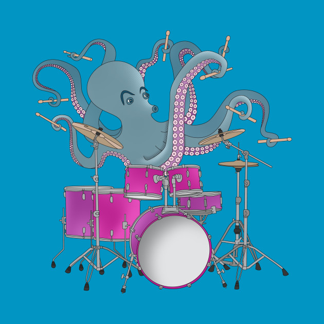 Octopus Playing Drums