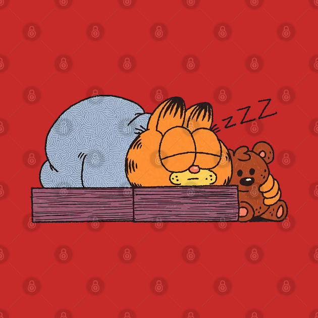 garfield Sleeping cute