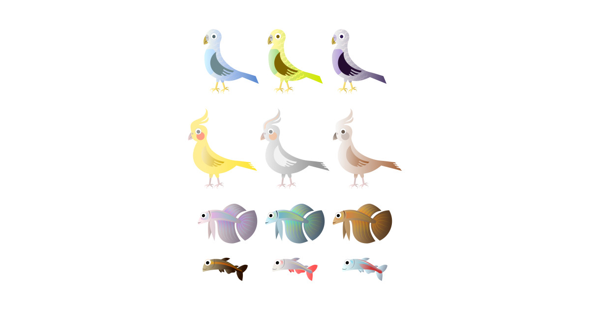 Limited Edition Exclusive Simple Birds And Fishes By Tomsmysidysdesign