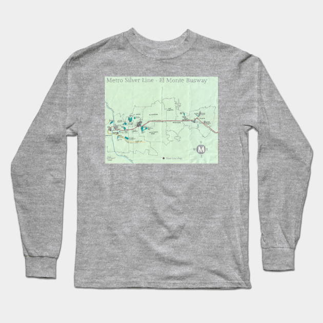 Metro Silver Line - El Monte Busway Long Sleeve T-Shirt