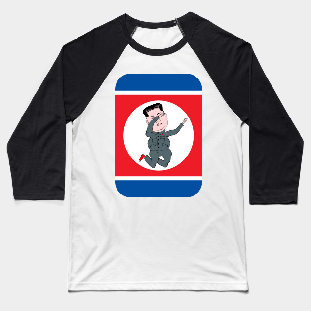 North Korea Dabbing North Korea Baseball T Shirt Teepublic
