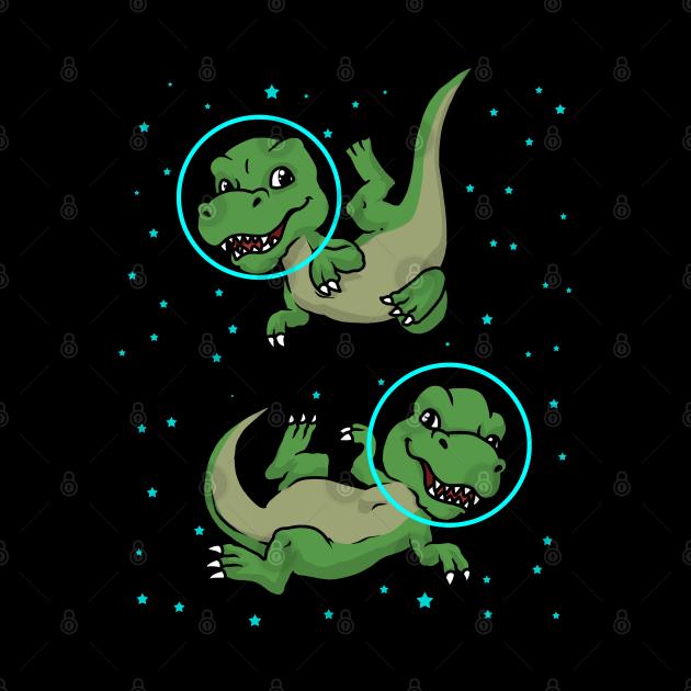 Dinosaur Astronaut Gift Kids TRex Spaceship Gift Dinosaur