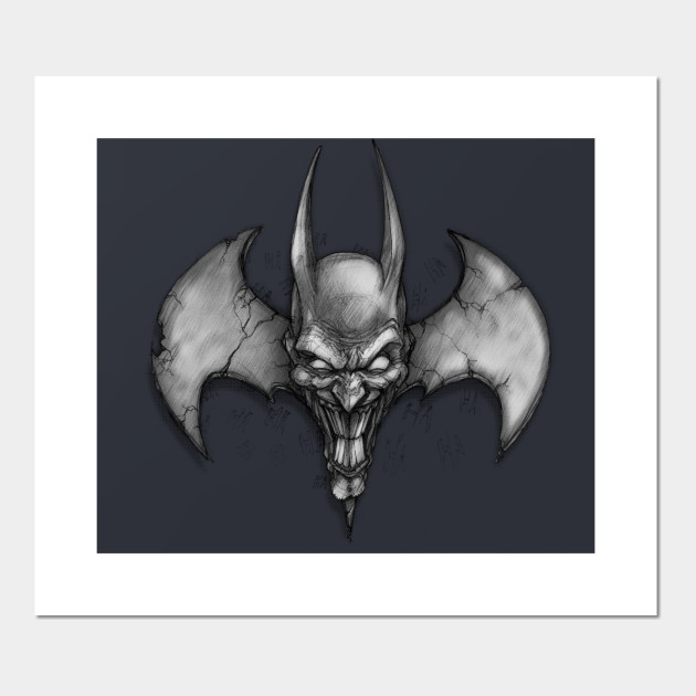 Joker Bat Symbol Batman Posters And Art Prints Teepublic