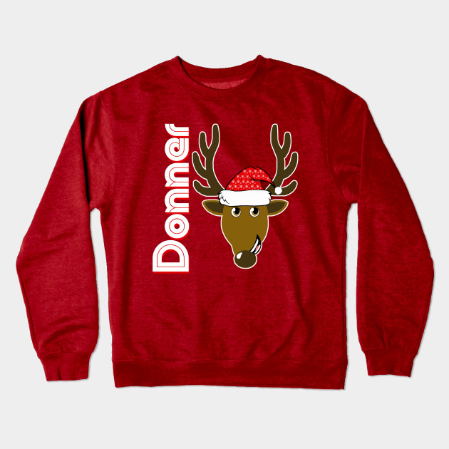 Anime Christmas Sweater.Donner Family Christmas Santa Anime 8 Reindeer Tshirts