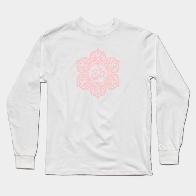 Pink Lotus Flower Yoga Om Om Long Sleeve T Shirt Teepublic