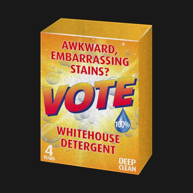 Vote, Anti Trump Whitehouse Detergent
