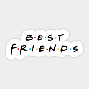 Best Friends For Couple Cool Show TV Vintage Sticker