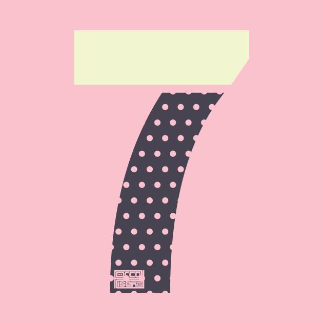Number 7 Seven Ladies Girls Polka Dots Girly Cute