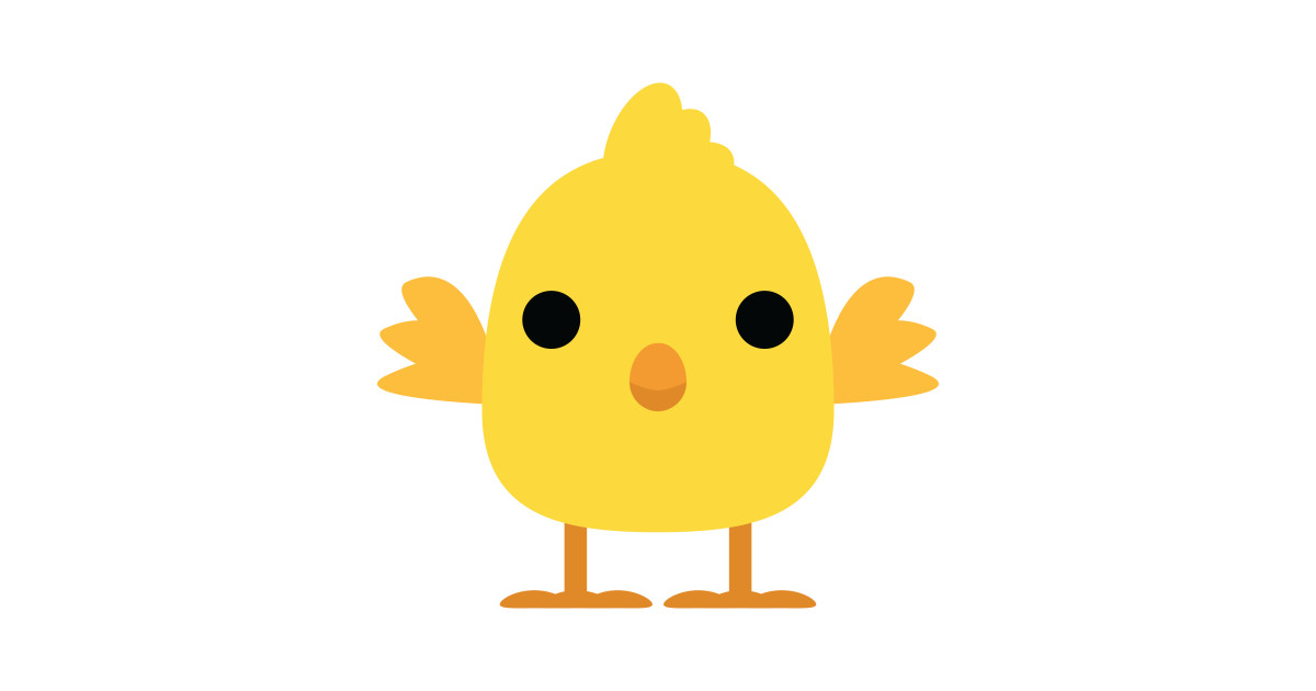 Cute Chick Emoji Innocent Look by teeandmee