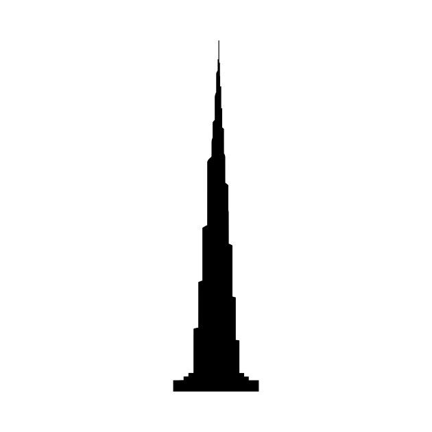 Tip of burj khalifa