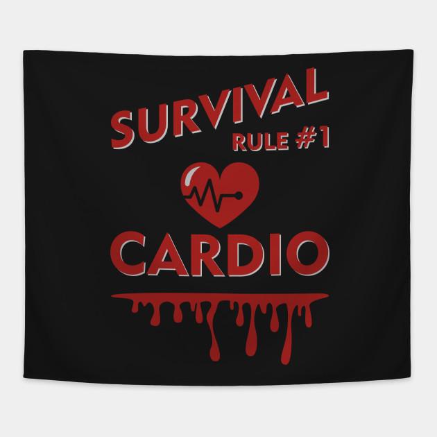 Zombieland Survival Rule 1 Cardio Zombieland Movie Tapestry