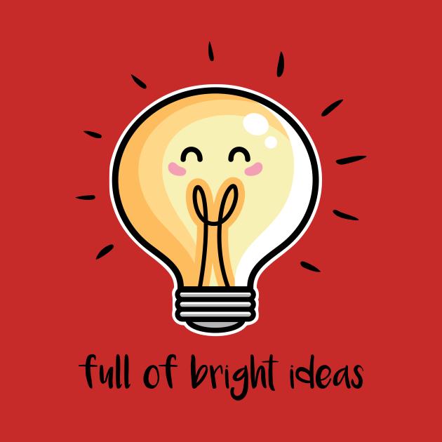 Kawaii Cute Lightbulb Of Bright Ideas