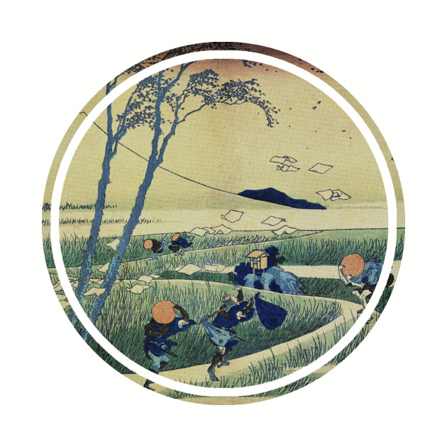Old Japanese painting (travelers)