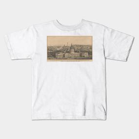 7032d79d Vintage Pictorial Map of Washington DC (1864) Kids T-Shirt