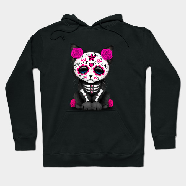 Cute Pink Day of the Dead Kitten Cat