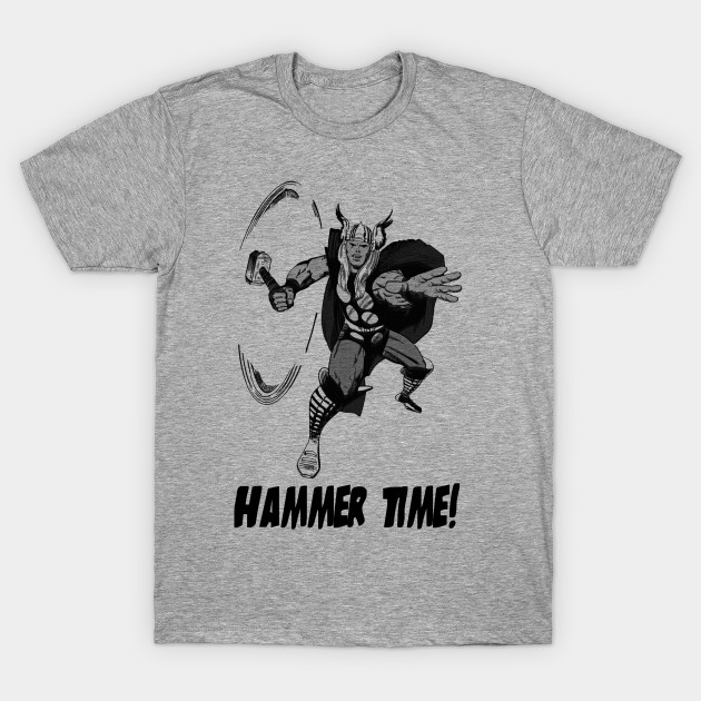 the mighty thor hammer time asgardian t shirt teepublic