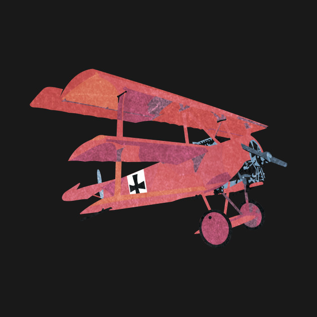 Fokker DR1 Red Baron Triplane Retro WWI Airplane