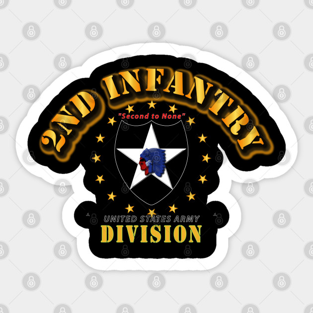 2nd Infantry Division US Army Indianhead American Flag Veteran sticker decal