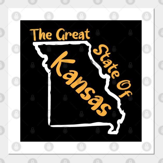 The Great state Of Kansas Missouri map